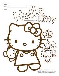 hello kitty color sheets