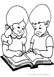 boy reading coloring kids drawing coloring pages marisa
