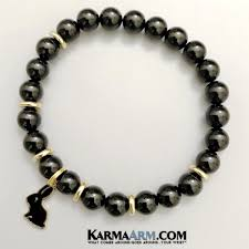 black onyx charm bracelet images Lucky yoga bracelets i black onyx rabbit chakra healing energy jpg