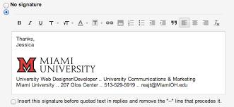 adding the miami logo to your email signature miami university
