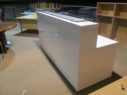 White Gloss Reception Desk White Gloss Reception Desk New U0026 Used Office Furniture Glasgow