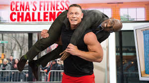 How Much Can John Cena Bench Press John Cena Demonstrates Quick Fitness Moves And Hoists Al Roker