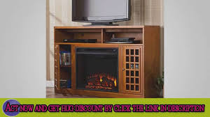 sei narita media console with electric fireplace espresso youtube