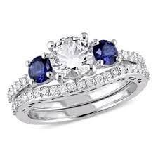 gemstone wedding rings gemstone wedding rings for less overstock