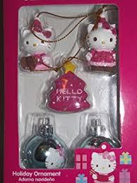 set of 6 hello tree ornaments