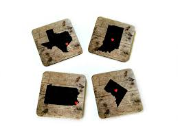 personalized state coasters custom map drink coasters long