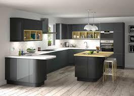kitchen ideas with black appliances stunning grey gloss kitchen ideas with black appliances and