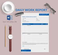 employee daily report template construction daily report template excel kukkoblock templates