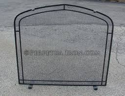 Arched Fireplace Doors by Perpetua Iron Fire Screens Custom Made To Fit Your Fireplace