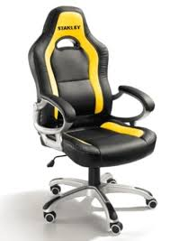 fauteuil bureau baquet fauteuil de bureau stanley jaune et noir par quincaillerie gilbert