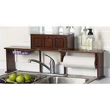 Kitchen Sink Shelves - fingerhut alcove over the sink organizer shelf