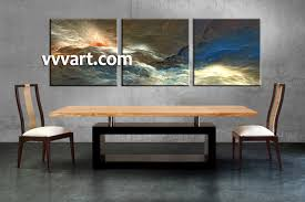 3 piece colorful abstract canvas artwork