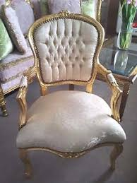 Damask Chair French Louis Soft Gold Brocade Damask Salon Chair Gold Frame