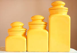 Ceramic Kitchen Canisters Sets by 28 Yellow Canister Sets Kitchen Vintage Set Of 3 Yellow