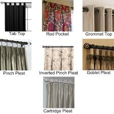 Types Of Curtains Decorating Personable Types Of Drapery Rods A Ideas Small Room Bedroom