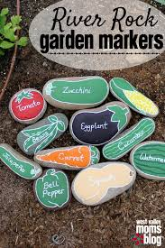 Rock Vegetable Garden Diy River Rock Garden Markers These Are The Cutest Things I Ve