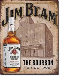 bourbon sign jim beam still house tin sign 13 x 16in home kitchen