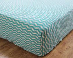 aqua crib sheet etsy