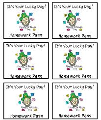 homework pass template word