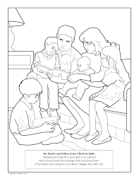 family coloring lds lesson ideas