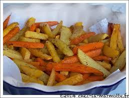 legumes cuisines frites de légumes et de pommes de terre au four marmotte cuisine