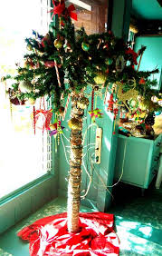 festive ornamental palm tree coastal decor