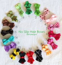 baby hair bows no slip baby hair ribbon bows many colors