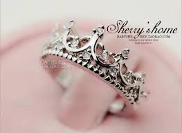 crown wedding rings fashion s palace hollow women wedding rings silver