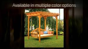 amazing cedar pergola swing bed stand plans garden landscape