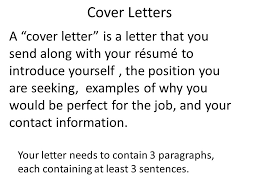 cover letters a u201ccover letter u201d is a letter that you send along