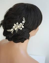 hair accessories for weddings gold bridal hair comb wedding hair accessories flowers and leaves