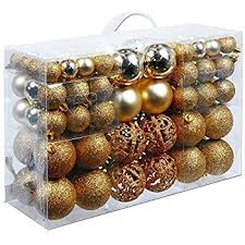 gifts tree plastic baubles plastic gold 100x