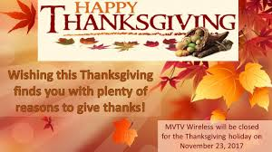 happy thanksgiving day mvtv wireless