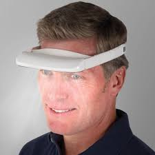 sad therapy l reviews the light therapy visor hammacher schlemmer