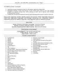 Resume Computer Science Examples by Resume Sample Programmer Analyst