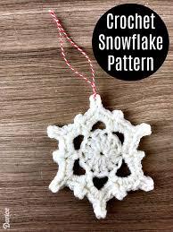 crocheted snowflake ornament pattern