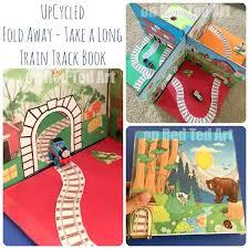 diy folding train table diy foldable take along train set red ted art s blog