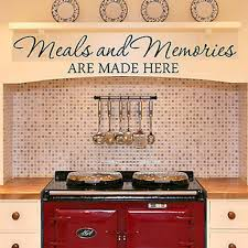 decor designs meals and memories kitchen quote vinyl wall decal sticker