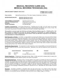 Examples Of Medical Resumes Resume Templates Medical Records Specialist Resume Medical
