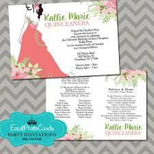 quinceanera party invitations coral and mint green quinceanera invitations 15th birthday floral