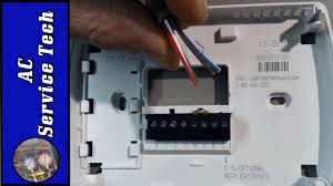 installation and wiring of a 24v low voltage thermostat step by