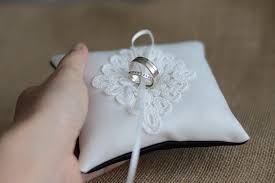 wedding pillow rings wedding ring pillow ring bearer pillow black and white ring