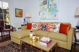 Gold Sofa Living Room Society Hill Renovation Eclectic Living Room Philadelphia