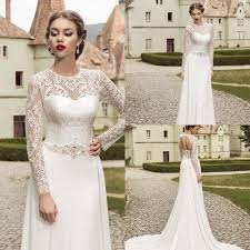 vintage 2015 spring jewel lace wedding dresses illusion with