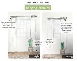 how long should curtains be how to hang curtains meredith lynn designs
