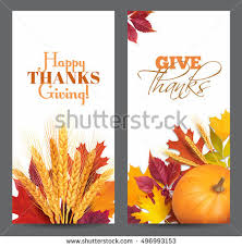 thanksgiving day banners vector illustration stock vector