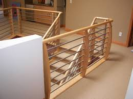 Interior Railings And Banisters Horizontal Tube Rail Systems Horizontal Railings