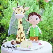 giraffe cake topper hobbit giraffe wedding cake topper fairytales handmade