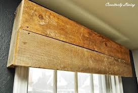 diy rustic window valances by creatively living blog