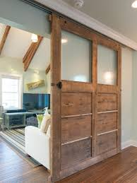 How To Make Your Own Barn Door by Solid Wood Door With Glass